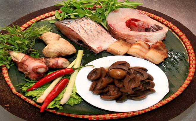 Nguyên liệu cho món cá kho trám