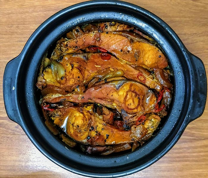 Ngấy ngất hương vị của món cá chép kho riềng